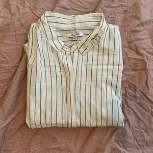 MADEWELL Embroided Striped Button Down